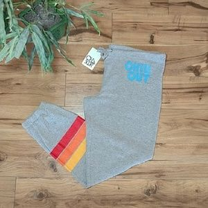 Chaser Joggers Knit Sweatpants Chill Out Stripe L